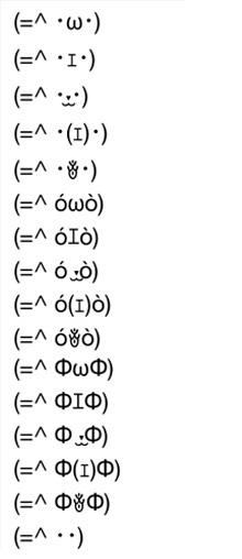 猫の顔文字